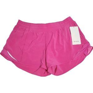 """Lululemon Hotty Hot LR Shorts 4"""" Sonic Pink Shorts"""